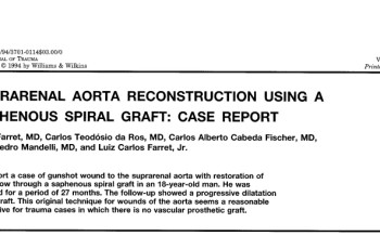 Suprarenal Aorta reconstruction using a saphenous spiral graft- case report.