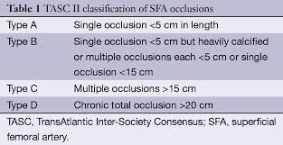 Inter-Society Consensus for the Management of Peripheral Arterial Disease (TASC II).